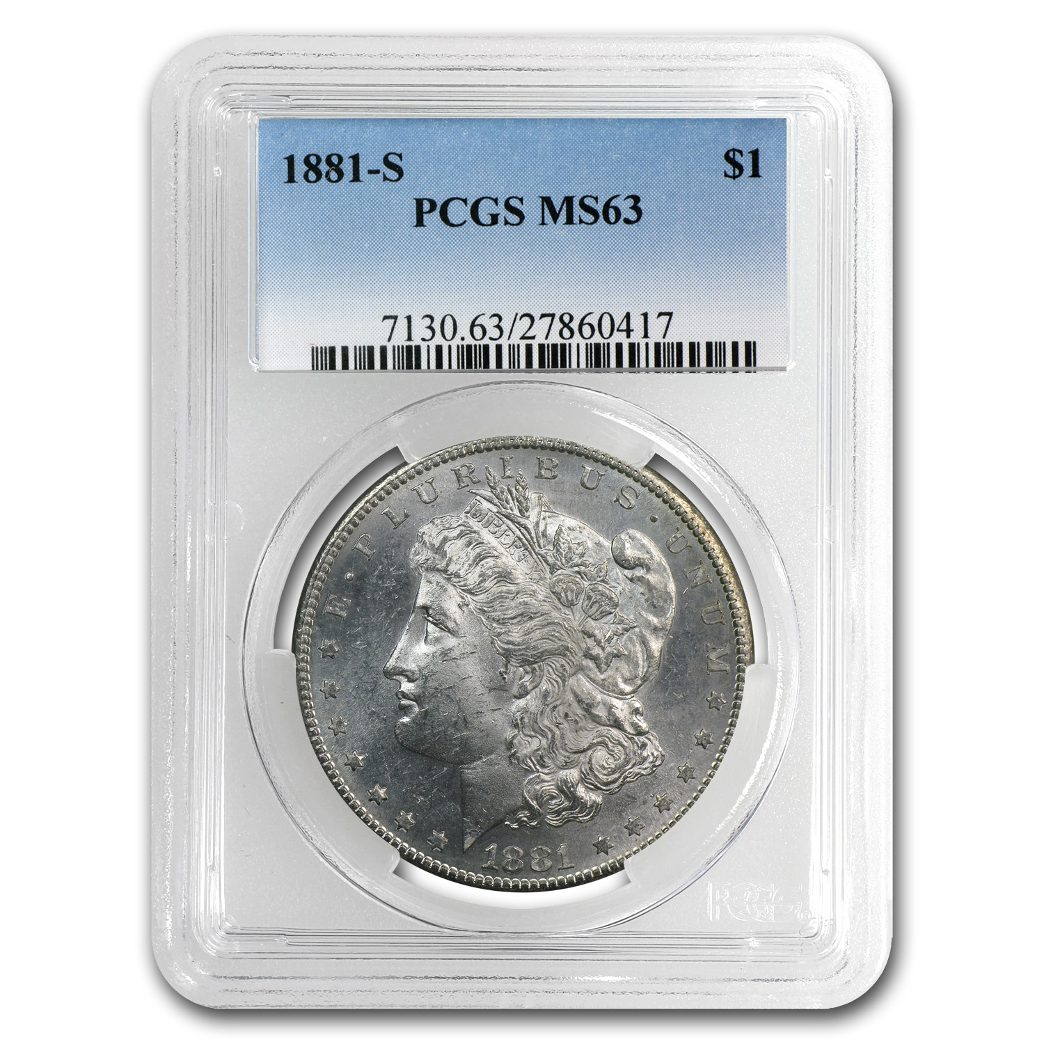 1878-1904 Morgan Dollars MS-63 PCGS (San Francisco Mint)